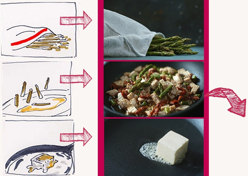 Process Brief e Storyboard Asparagi Video TableTop | WOWfood | www.wowfood.it