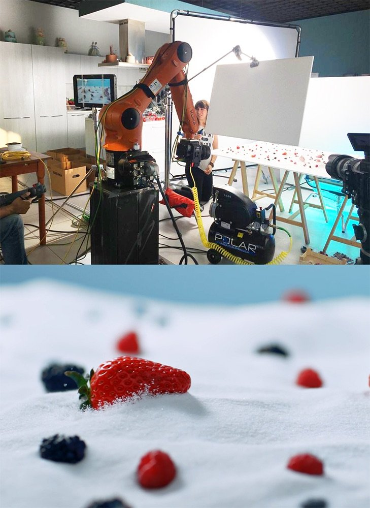 Produzione video TableTop Fragole Naturama | WOWfood | www.wowfood.it