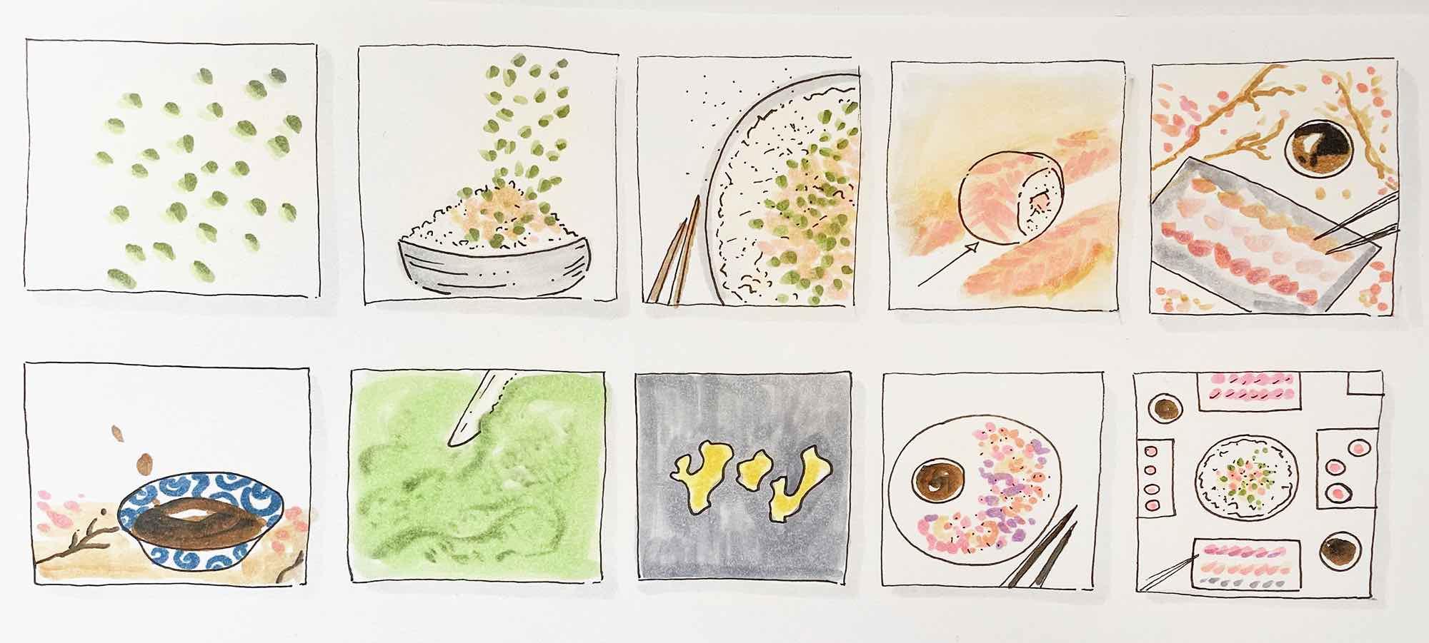 Storyboard Sushi Esselunga | WOWfood | www.wowfood.it